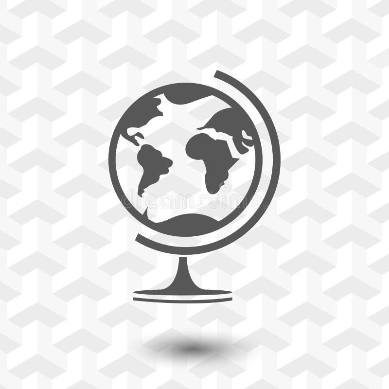 Interri la progettazione piana dell'illustrazione di vettore delle azione dell'icona del globo illustrazione vettoriale