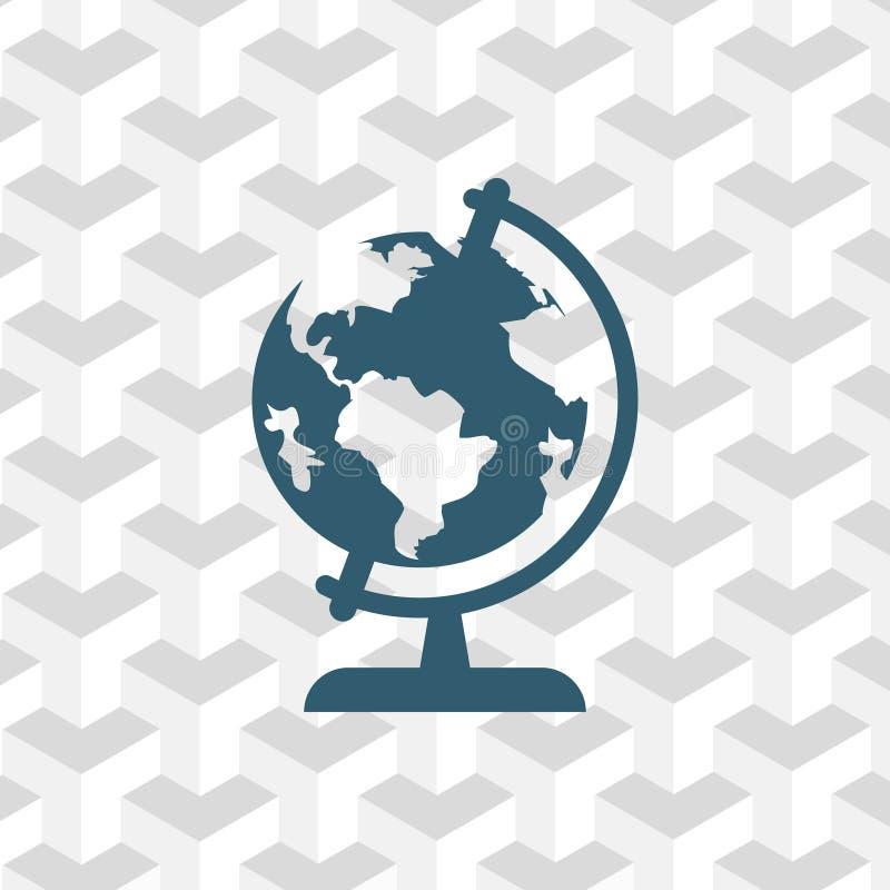 Interri la progettazione piana dell'illustrazione di vettore delle azione dell'icona del globo royalty illustrazione gratis