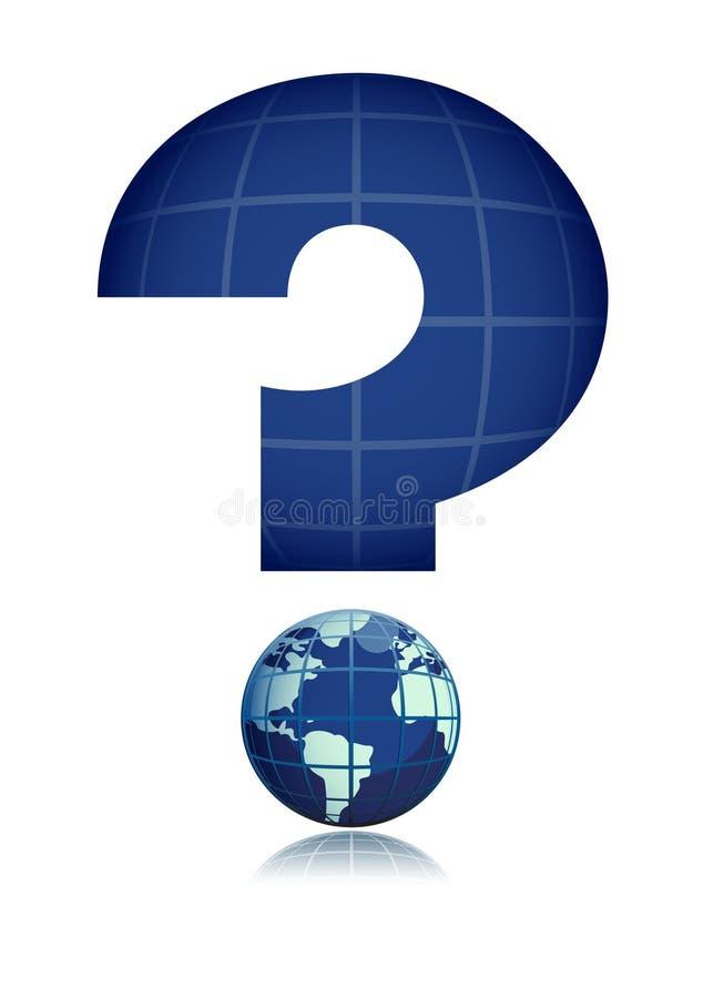 Interrogación global stock de ilustración