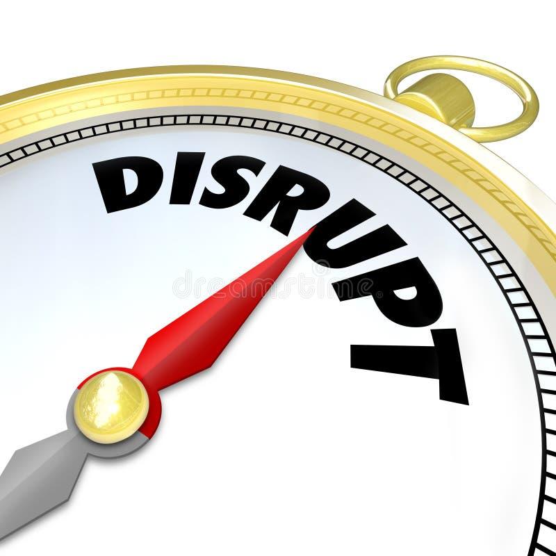 Interrompa pontos de compasso ao modelo comercial novo da SHIFT do paradigma ilustração stock