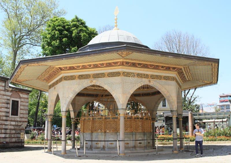 Interrupção em Hagia Sófia em Istambul imagens de stock royalty free