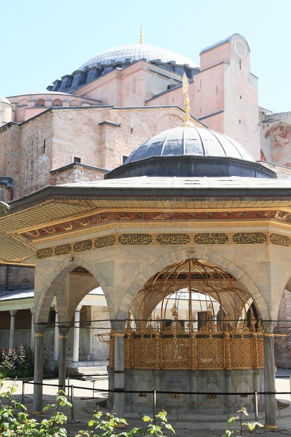 Interrupção em Hagia Sófia em Istambul foto de stock royalty free