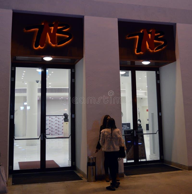 Interrupción en el teatro nacional de Bucarest foto de archivo libre de regalías