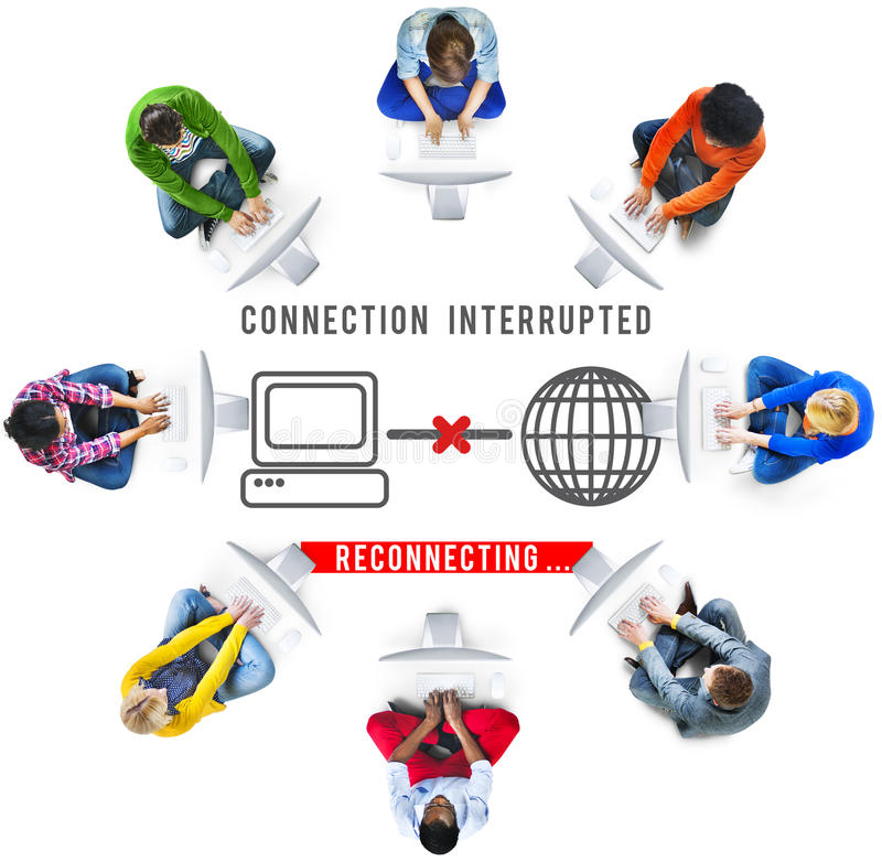 Free Interrupted Inaccessible Unavailable Disconnected Error Concept Royalty Free Stock Photos - 80311398