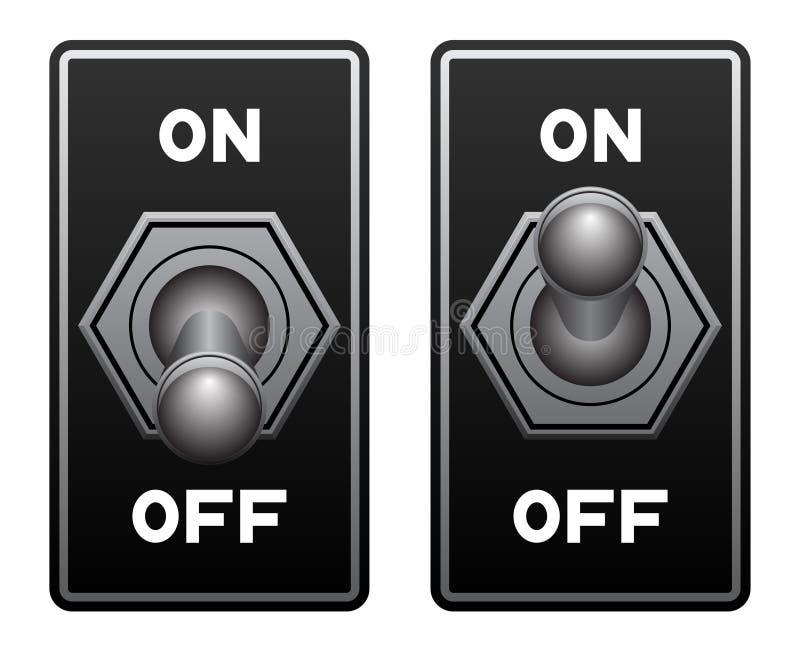 Interrupteur à bascule illustration stock