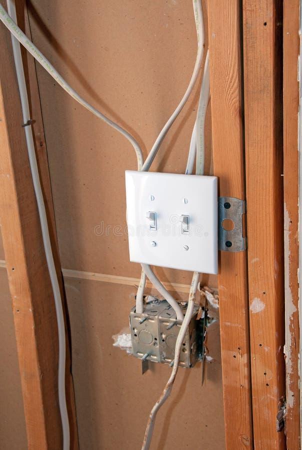 Interrupteur de lampe électrique images libres de droits