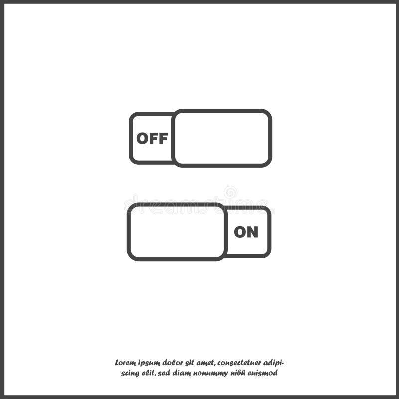 Interrupteur on/off d'image de vecteur Icône de commutateur d'icône sur le fond d'isolement blanc illustration libre de droits