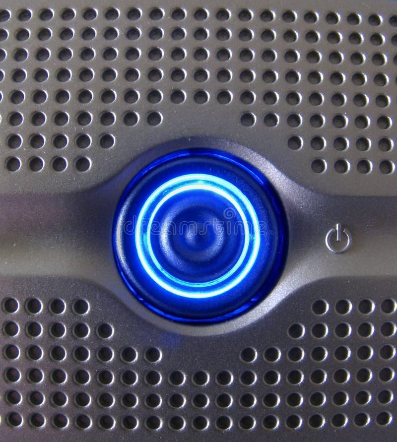 Interruptor azul fresco fotografía de archivo libre de regalías