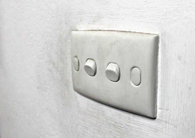Interruptor da parede foto de stock