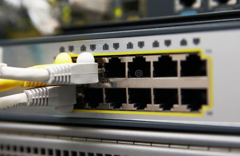 Interruptor da rede Ethernet imagens de stock