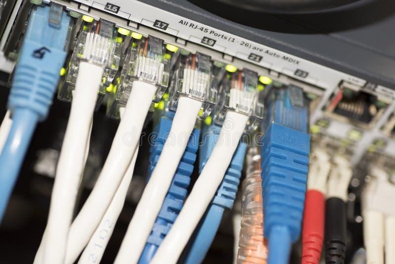Interruptor da rede Ethernet imagem de stock royalty free