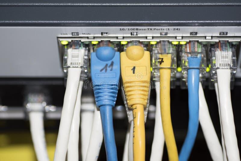 Interruptor da rede Ethernet fotografia de stock