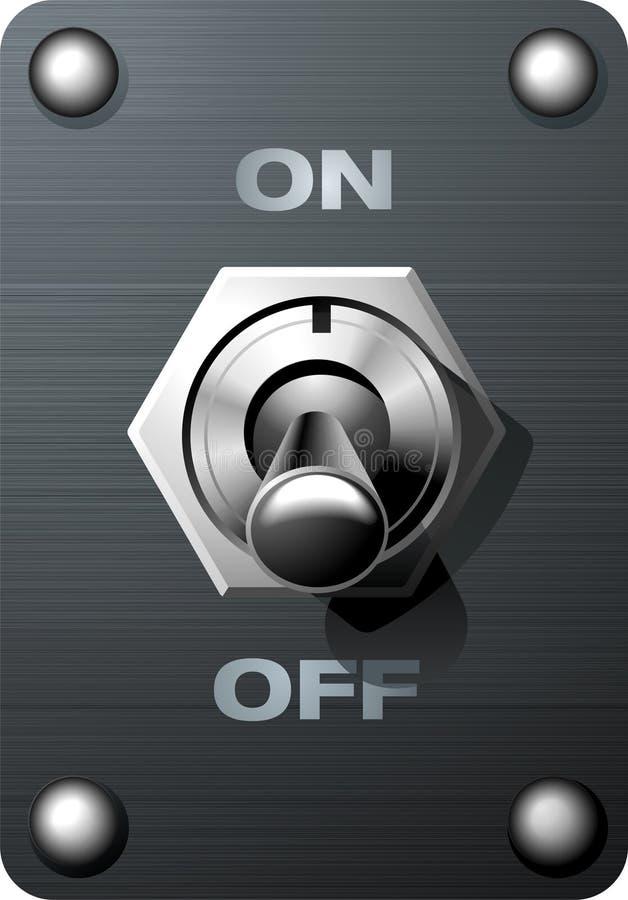Interruptor de alavanca ilustração stock