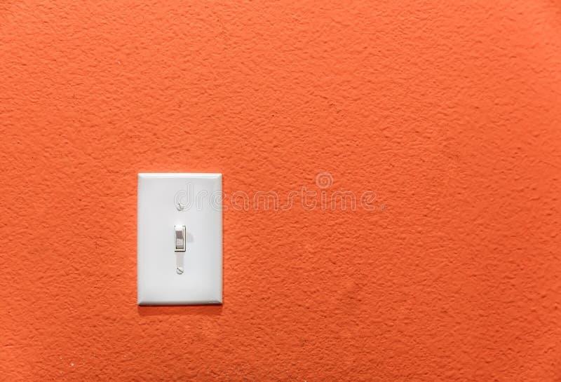 Interruptor de alimentação na parede imagem de stock