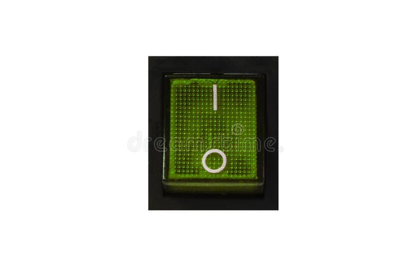 Interruptor de energias verdes em fora fotografia de stock