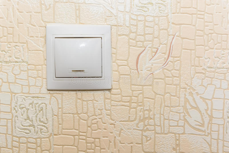 Interruptor de la luz blanco y rojo del eje de balancín foto de archivo libre de regalías