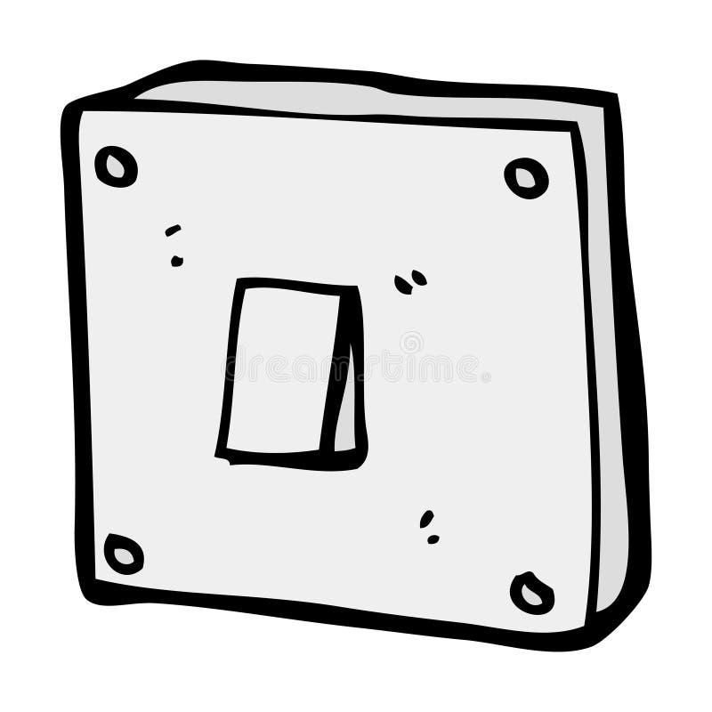 interruptor de la luz de la historieta stock de ilustración