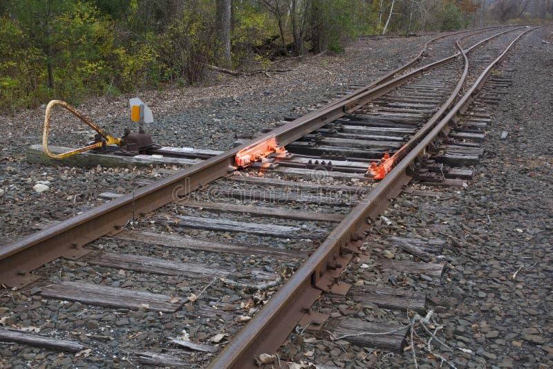 Interruptor De La Pista De Ferrocarril Imagenes de archivo