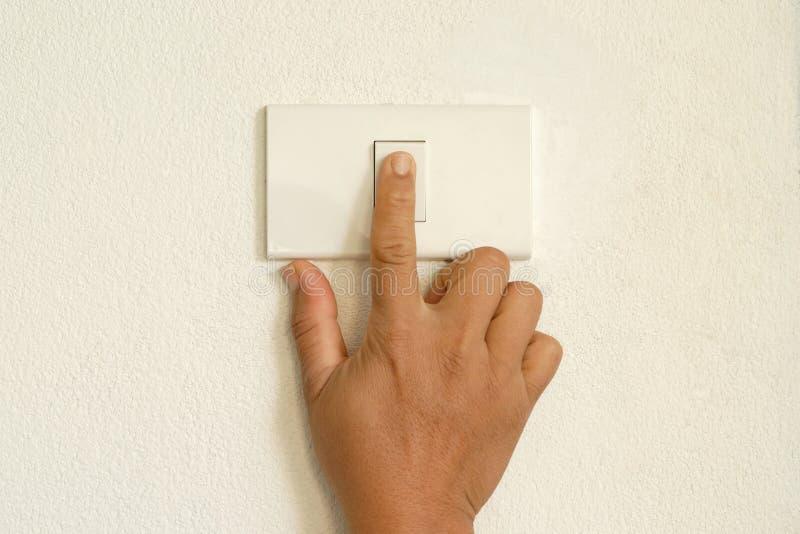 Interruptor de la prensa del finger imagenes de archivo