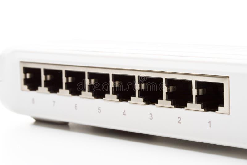Interruptor de rede imagem de stock