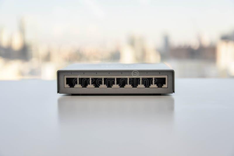 Interruptor de rede pequeno foto de stock