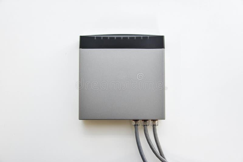 Interruptor de rede pequeno fotografia de stock