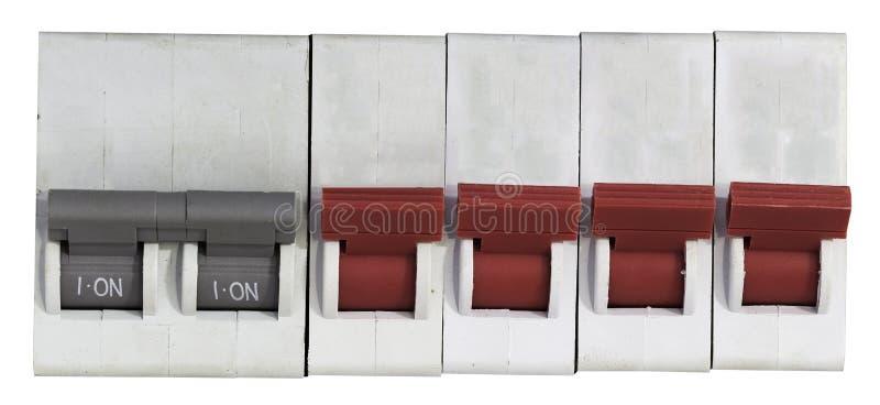 Interruptor de Utomatic em um fundo branco imagem de stock