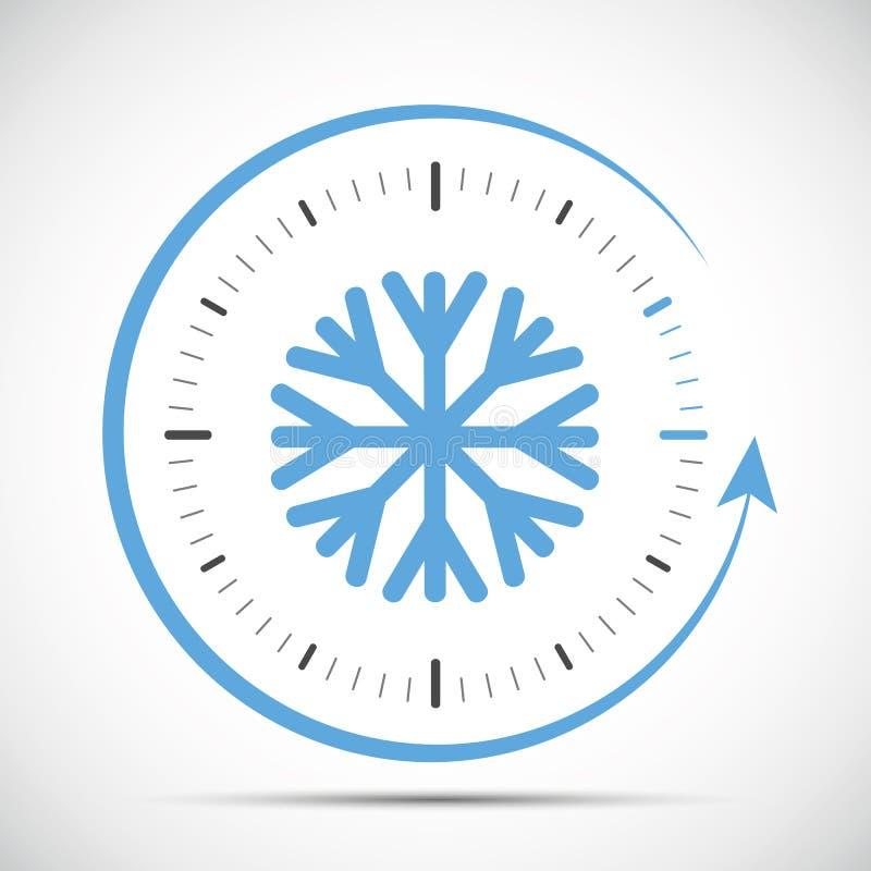 Interruptor del reloj al extracto de invierno ilustración del vector