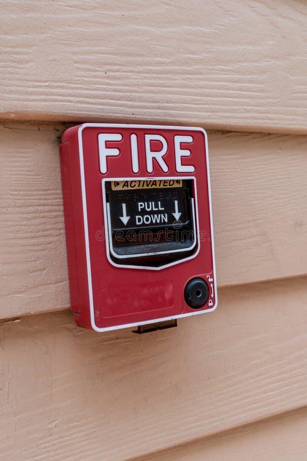 Interruptor do fogo foto de stock