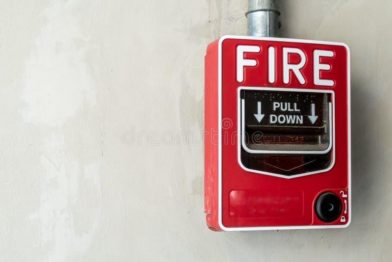 Interruptor do fogo na parede foto de stock royalty free