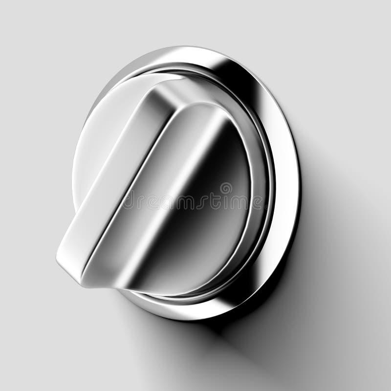 Interruptor do metal ilustração stock