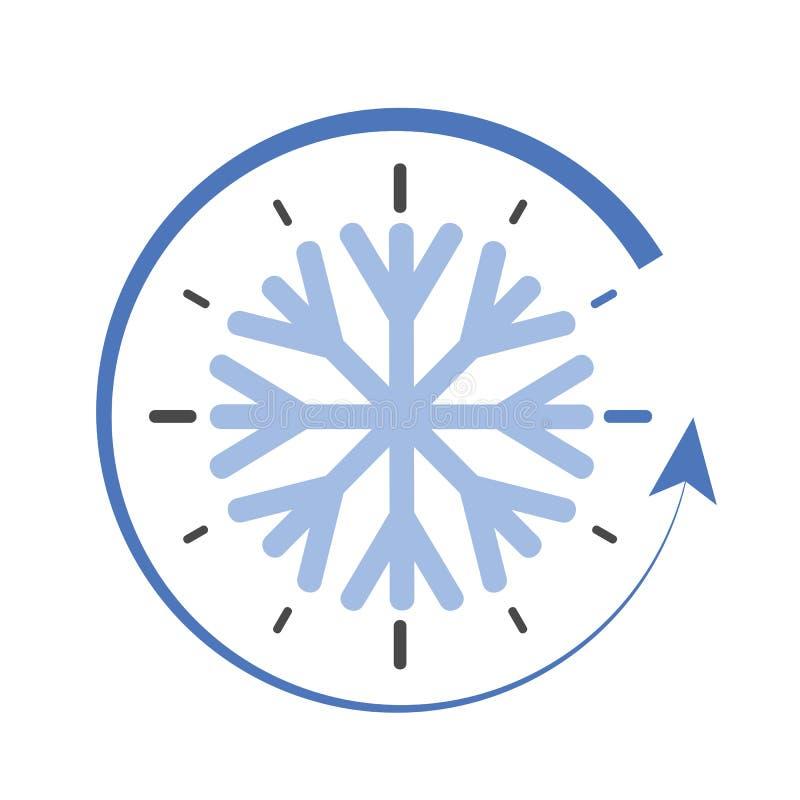 Interruptor do pulso de disparo ao vetor simples do tempo de inverno ilustração stock