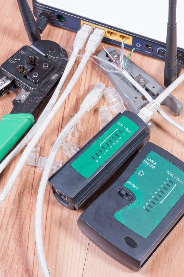 Interruptor dos ethernet foto de stock
