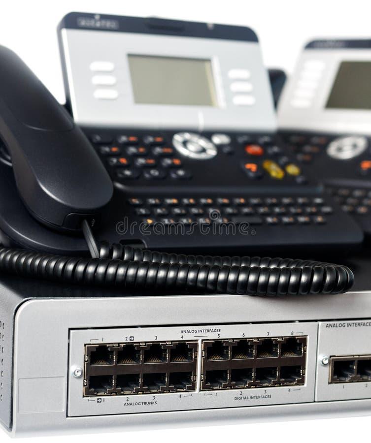 Interruptor e telefones do telefone imagens de stock