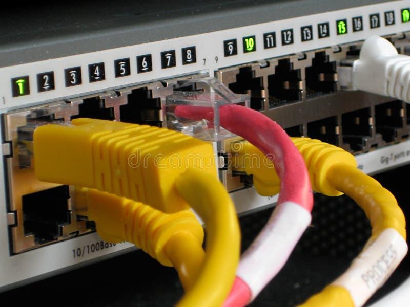 Interruptor industrial do Ethernet da rede imagem de stock