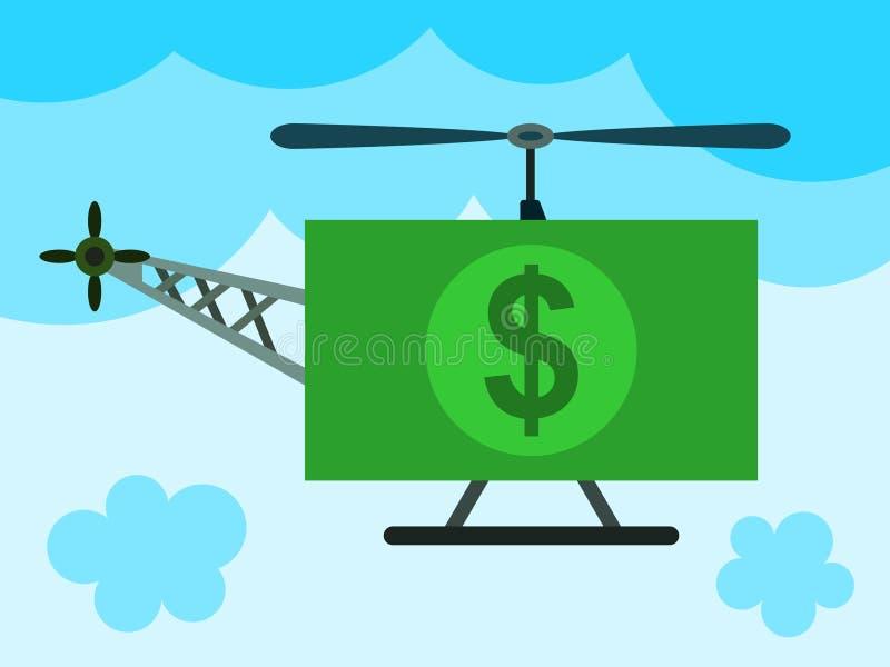 Interruptor inversor do dinheiro ilustração do vetor