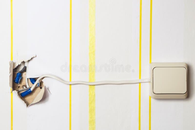 Interruptor ligero blanco foto de archivo libre de regalías