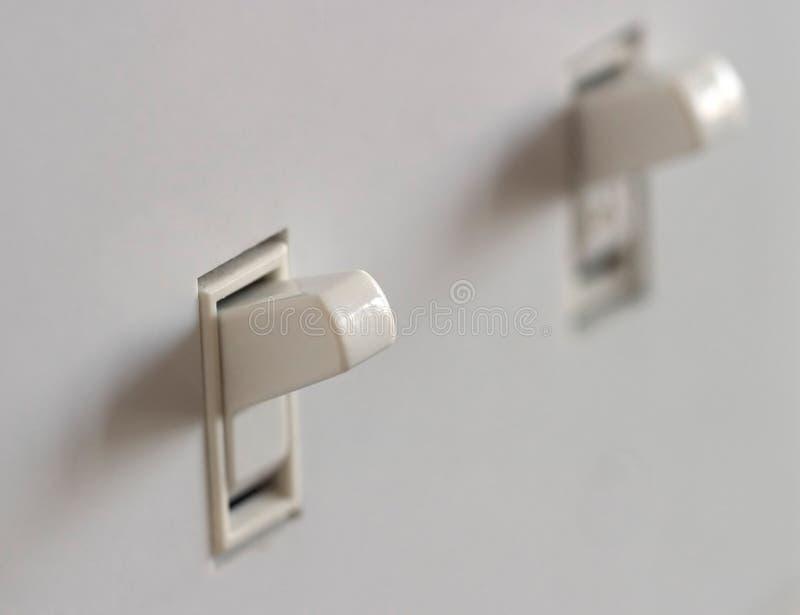 Interruptor ligero doble fotografía de archivo libre de regalías