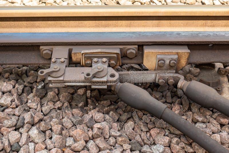 Interruptor manual ferroviario del gancho de Reino Unido foto de archivo libre de regalías