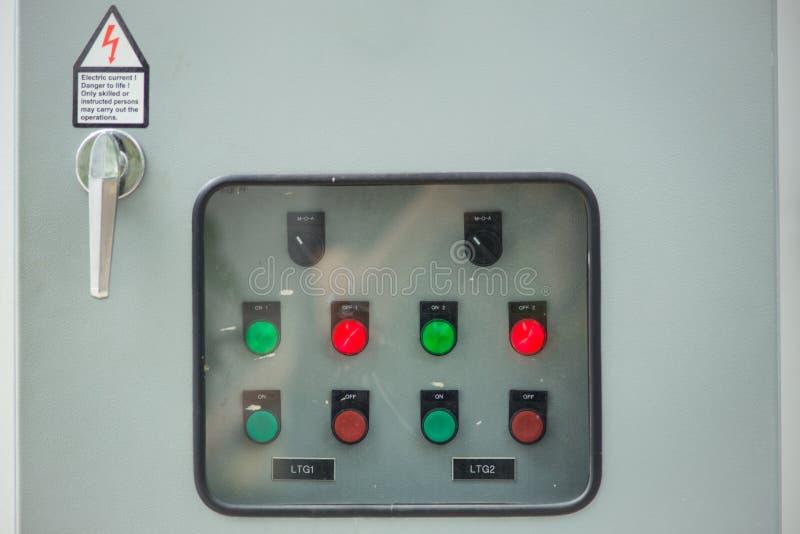 Interruptor principal da eletricidade da indústria do close up foto de stock royalty free