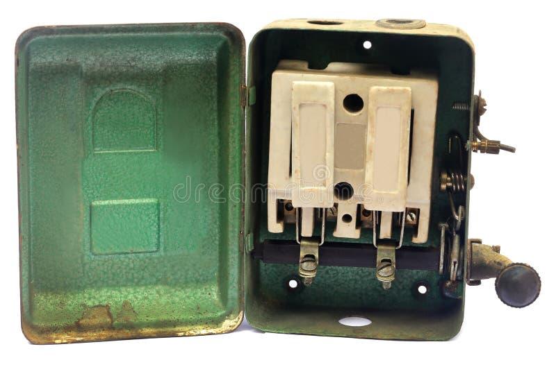 Interruptor principal velho imagem de stock