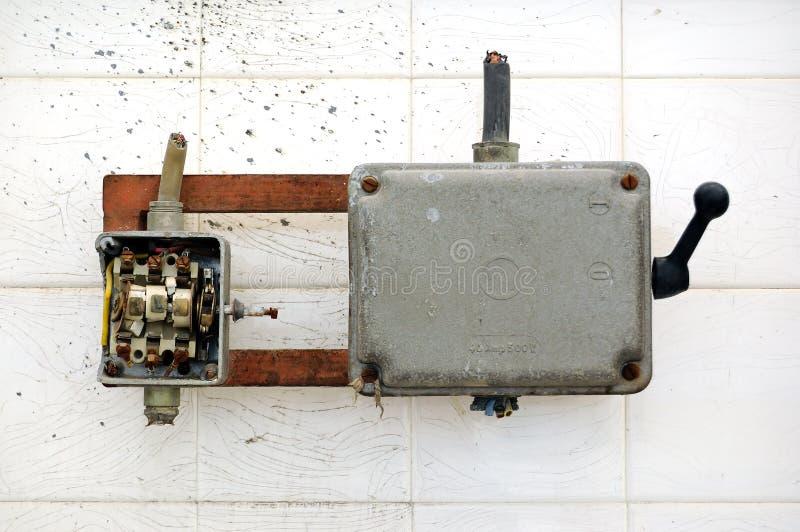 Interruptor quebrado imagen de archivo