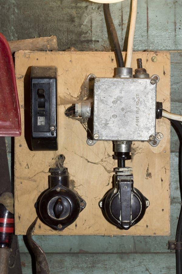 Interruptor velho imagem de stock
