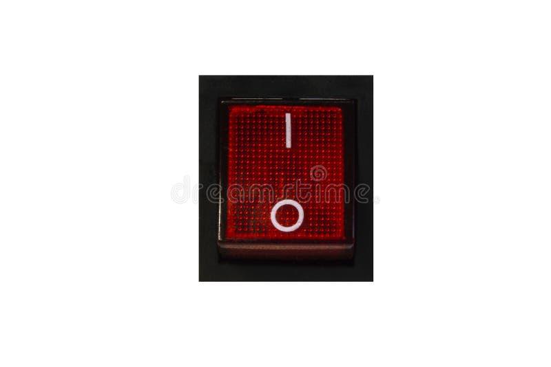 Interruptor vermelho isolado em fora imagem de stock