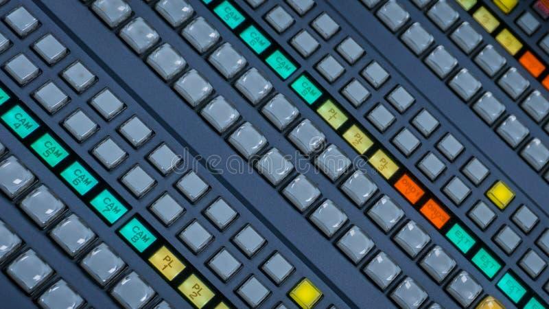 Interruptor video con muchos botones del color foto de archivo
