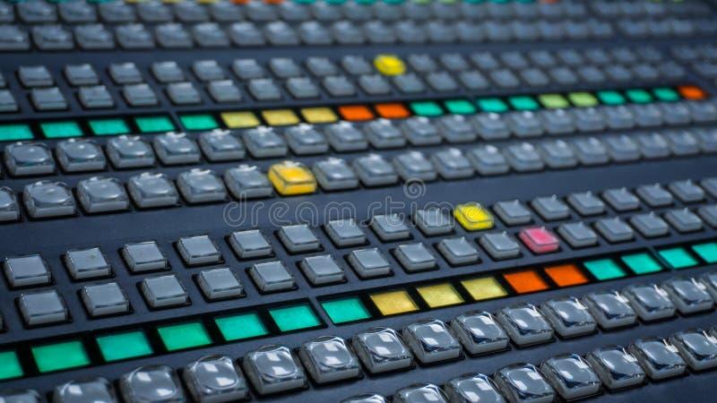 Interruptor video con muchos botones del color imagenes de archivo