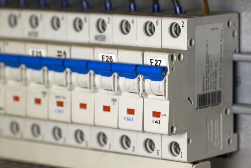Interruptores automáticos do fusível imagens de stock