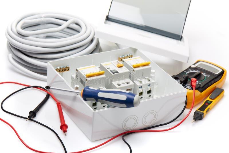 Interruptores automáticos Equipamento elétrico fotografia de stock