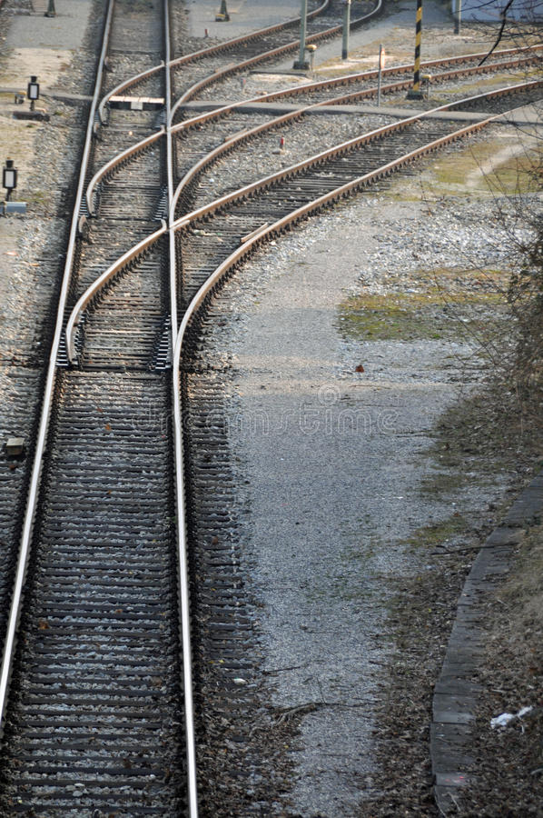 Interruptores da estrada de ferro fotografia de stock royalty free