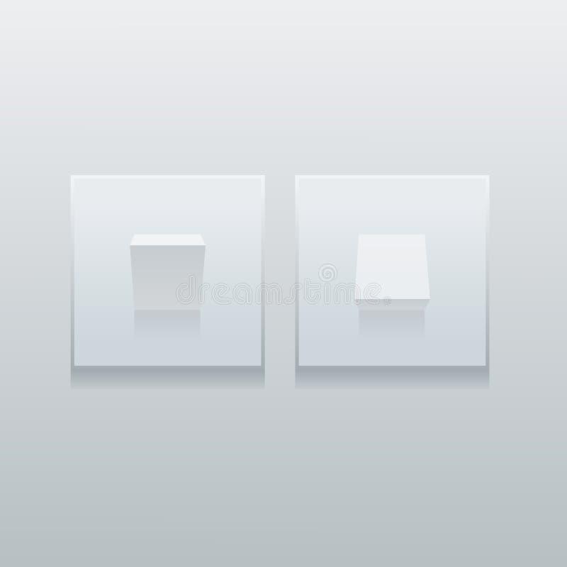 Interruptores de la luz minimalistic simples stock de ilustración